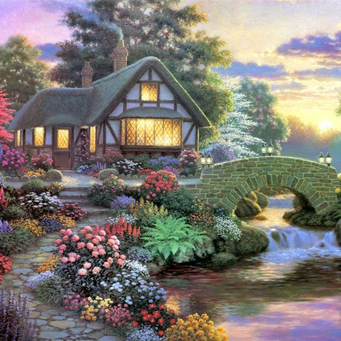 Beautiful Garden Hut Landscape Diamond Painting Crystal Rhinestone Cross-stitch Fantastic Drawing Home Art Decoration #CLICK! #clothing, #shoes, #jewelry, #women, #men, #hats, #watches