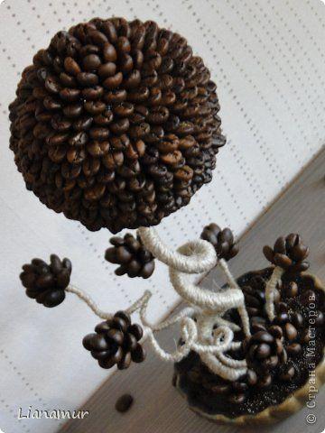 """Панно """"Кофе и сливки""""или """"Инь янь в чашке"""". Полимерная глина, зерна кофе, шпагат, одношаговый кракелюр. фото 35"""