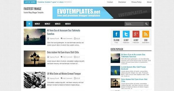 Colours: a free premium responsive blogger template exeideas.
