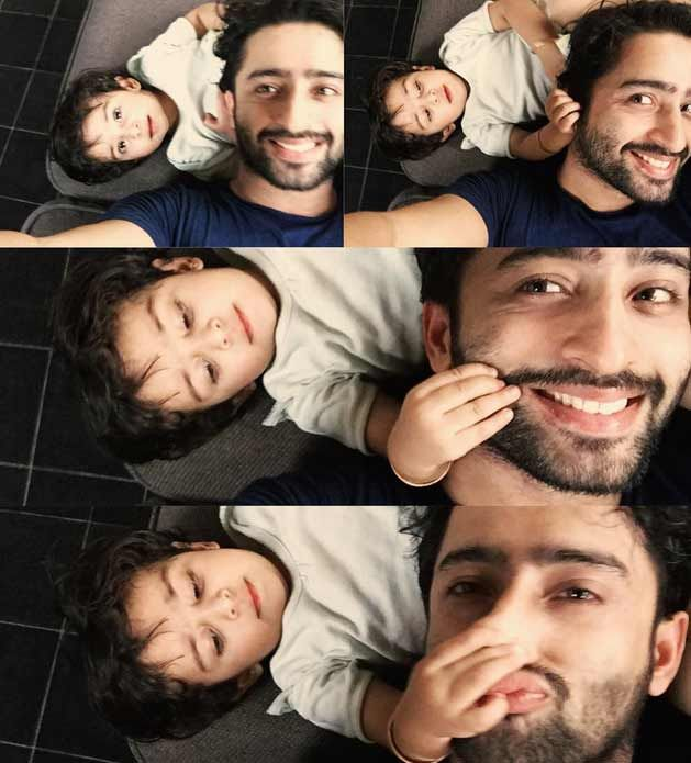 shaheer sheikh with his niece