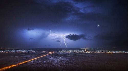 Most people stay in their homes during storms - but Dubai-based photographer Mahmoud Marei is not most people. One stormy night he drove to Jebel Hafeet in Al Ain at 3AM in the morning and shot this awe-inspiring photo amidst heavy rain. He says My clothes got soaking wet but I was happy to see the result. It was well worth the adventure. #MyNikonMyStory . . Pressure Gauge by @mahmoud.mar3i. Taken using a #Nikon #D810. #NikonMEA via Nikon on Instagram - #photographer #photography #photo…