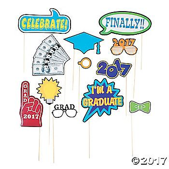 """Put the """"yay"""" in gradu-yay-tion with these fun photo props! Great for graduation party supplies, these props can be used for snapping selfies with ..."""