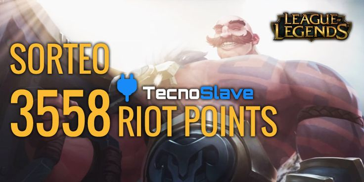 Sorteo de 3558 Riot Points League of Legends