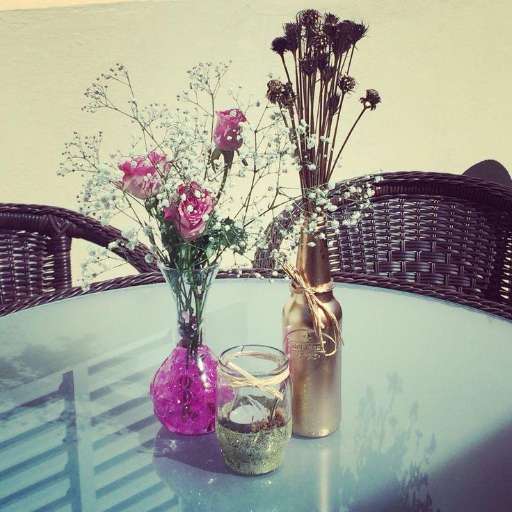 Arranjos para Mesa #noivado #ideias #simples #façavocêmesmo
