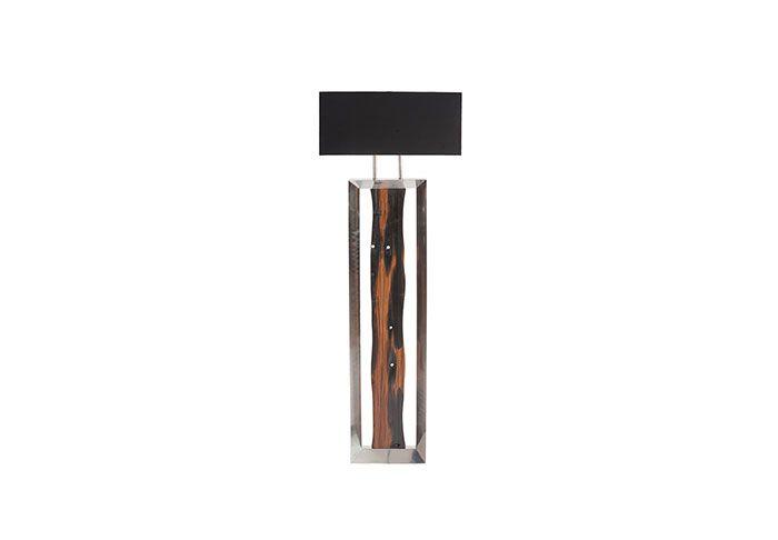 Rustic yet modern floor lamp