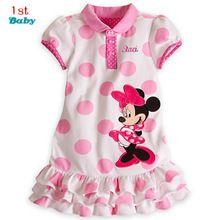 2015 Nuevos niños de La Muchacha del vestido de Traje de Minnie Mouse para niños Ropa niñas princesa ropa vestido sin mangas vestido(China (Mainland))