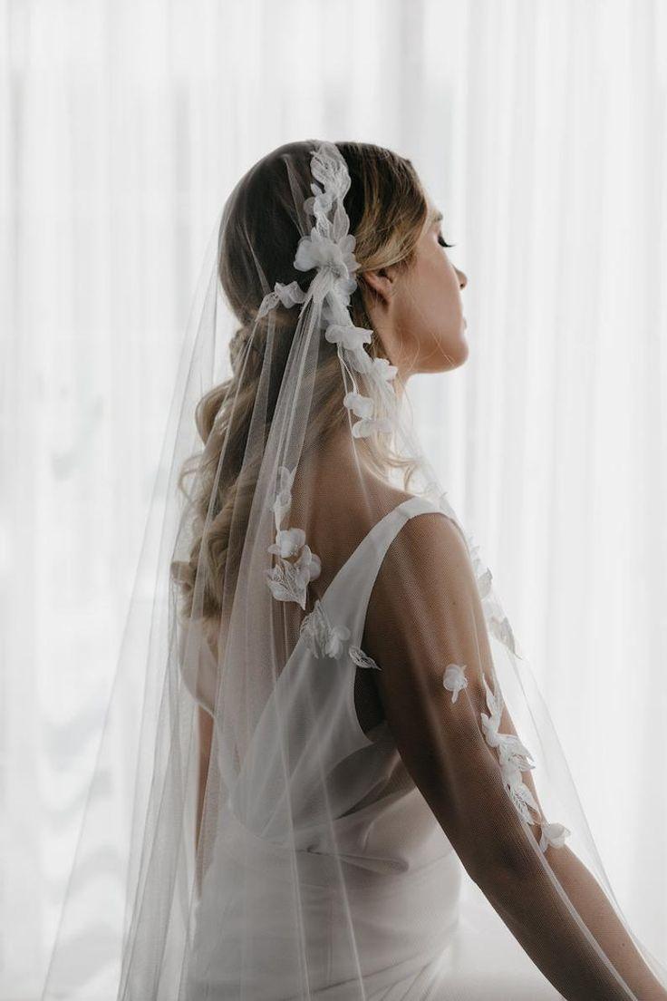 CARMEN   Juliet cap veil, bridal cape veil, lace wedding veil ...