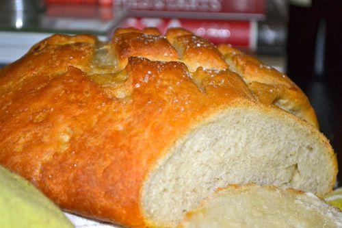 Homemade Roasted Garlic Round Loaf