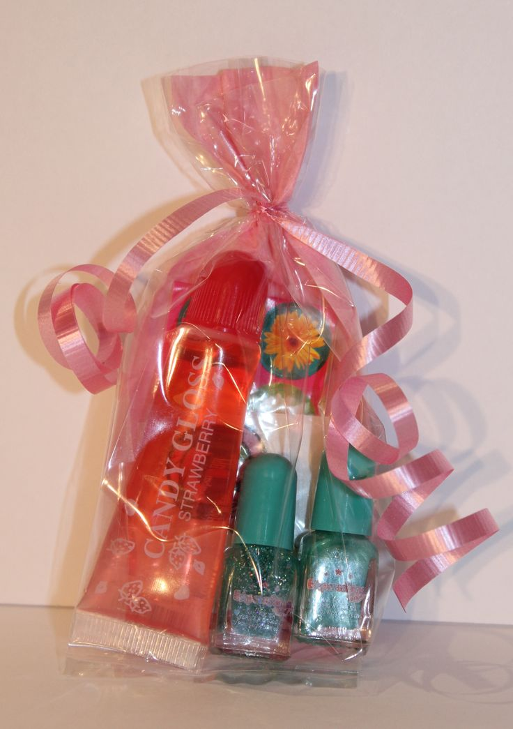 For the older girls attending your party, this cute nail polish combo and flavoured lip gloss is the perfect gift