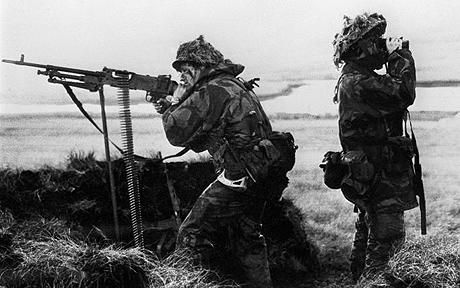 The story of how 22 Royal Marines took on an entire Argentine invasion force at the start of the Falklands War has been told for the first time by one of the men involved.