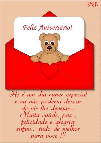 Ursinho desejando Feliz Aniversário #felicidades #feliz_aniversario #parabens