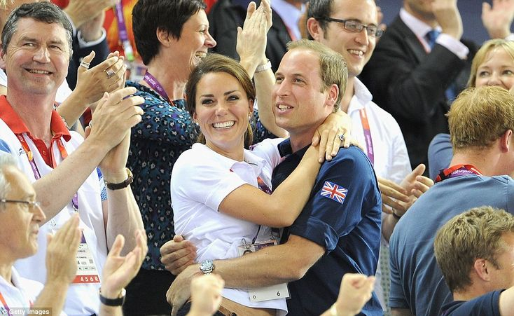 Just when you thought they couldn't get any cuter. Celebrating as Team GB wins gold.