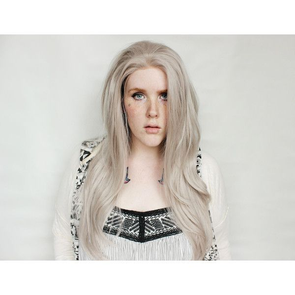 Gray Lace Front Wig Long Silver Wig Silver Wig Great as a Cosplay Wig... ($133) ❤ liked on Polyvore featuring beauty products, haircare, hair styling tools, bath & beauty, hair care, silver, wigs, straightening iron, straight iron and styling iron