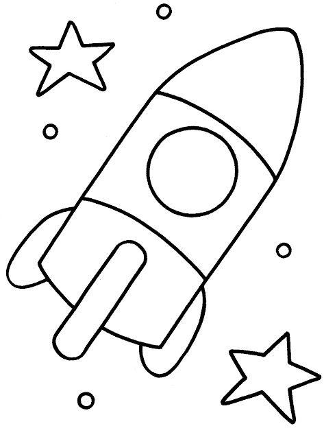 Resultado de imaxes para dibujos de cohetes para colorear