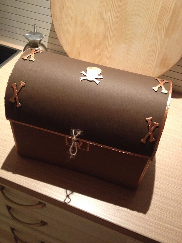 Pirate party treasure chest