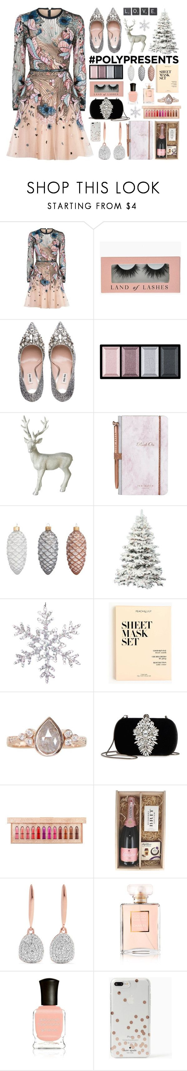 """#PolyPresents: Wish List"" by stavrolga on Polyvore featuring Elie Saab, Miu Miu, Clé de Peau Beauté, Parlane, Ted Baker, John Lewis, J.Crew, Luna Skye, Badgley Mischka and MAC Cosmetics"