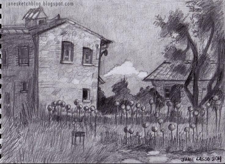 Dibujo de paisaje a lápiz   Dibujo artístico / Artistic drawing ...