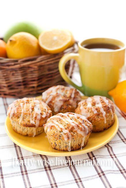 Лимонно-маковые маффины