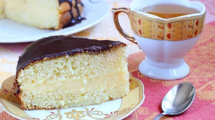 Receta de Pastel de crema de Boston (Boston cream pie)