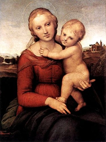 The Small Cowper Madonna 1505 Oil on panel 59,5 x 44 National
