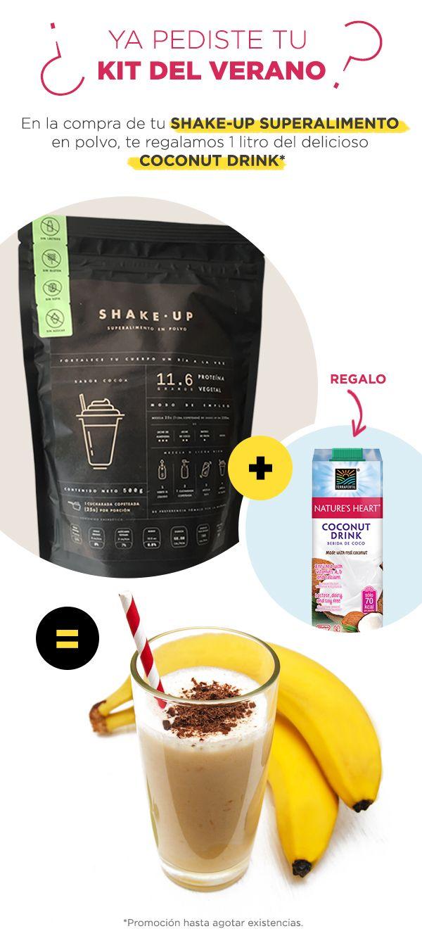 Prepárate este batido de polvo de proteína y leche de almendras para después de hacer ejercicio. ¡Está delicioso! #proteinshake #proteina #vegan