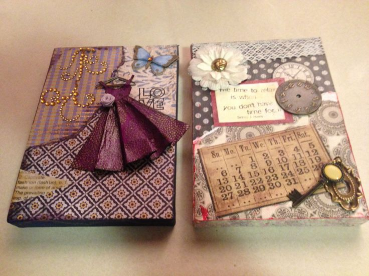 Canvas decoupage craft project