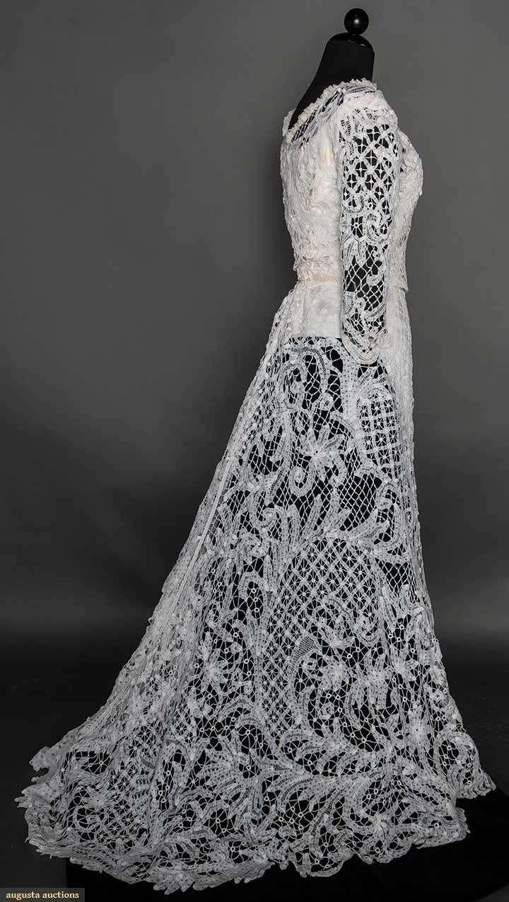 Battenburg Lace Gown, C. 1910, Augusta Auctions, April 8, 2015 NYC, Lot 301