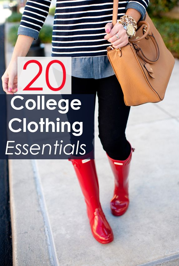 20 Clothing Essentials for Your College Wardrobe - this is so important http://espanishlessons.com/product/conversations-spanish-course/