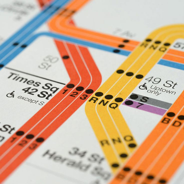 signed vignelli 2012 NYC subway diagrams now