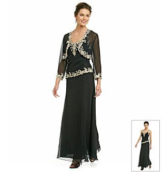Mother of the bride dress j kara 174 long beaded dress with jacket