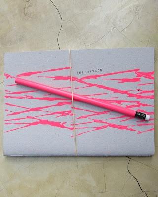 handmade neon notebooks