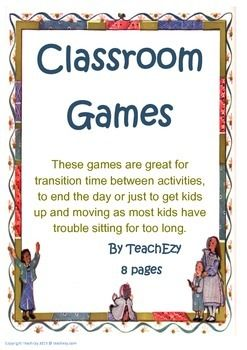 Games to use in the Primary Classroom