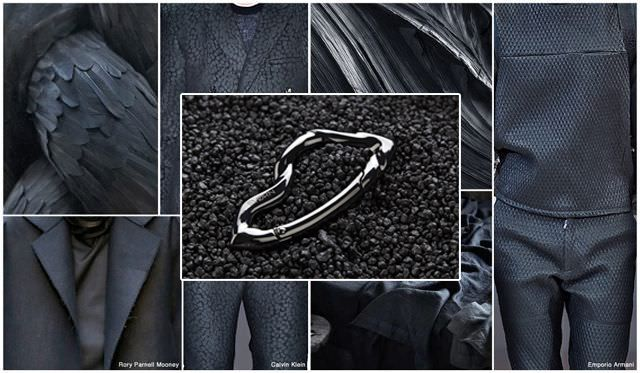 According to numerous fashion editors, charcoal grey and tactile-heavy fabrics will be amongst the dominant palettes of menswear for F/W 16/17. Evidently, this puts you 1-2 years ahead of the curve. #fashion #trend #menswear #style #mensstyle #accessories #black