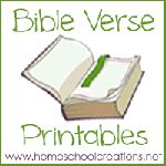 "FREE Bible verse printables for children to use while learning verses. The printables include an 8 1/2"" x 11"" page, cut-apart verse strips, and also 4"" x 6"" cards."