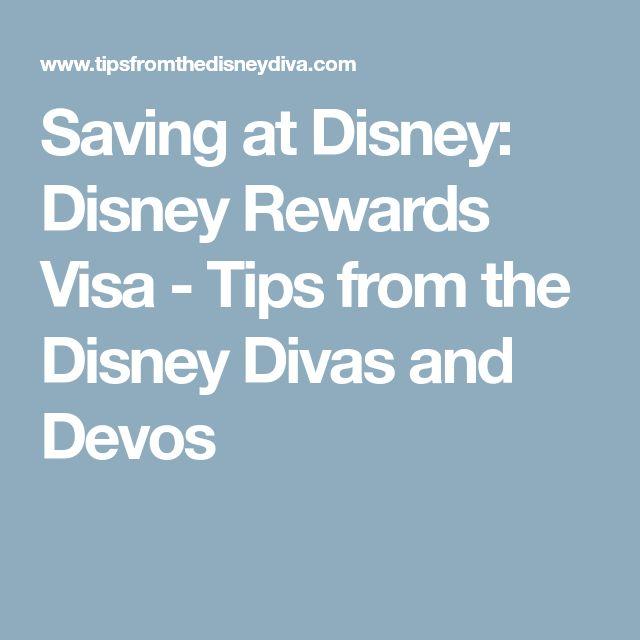 Saving at Disney: Disney Rewards Visa - Tips from the Disney Divas and Devos
