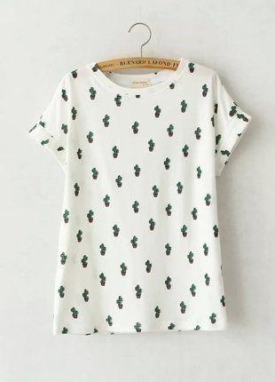 Kup mój przedmiot na #vintedpl http://www.vinted.pl/damska-odziez/koszulki-z-krotkim-rekawem-t-shirty/16817444-koszulka-z-kaktusami