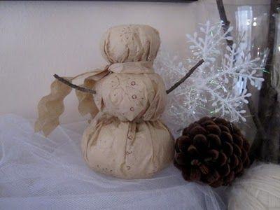 coffee filter snowman