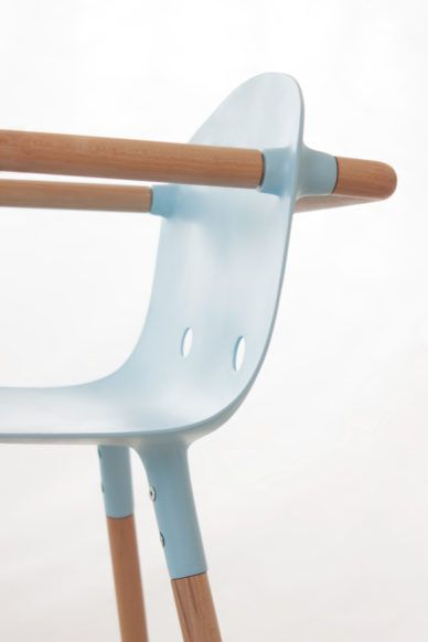 Check this out on leManoosh.com: #Baby Chair #Bent over #Blue #Chair #Furniture #Handle #Metal #Seamless #steel #Wood