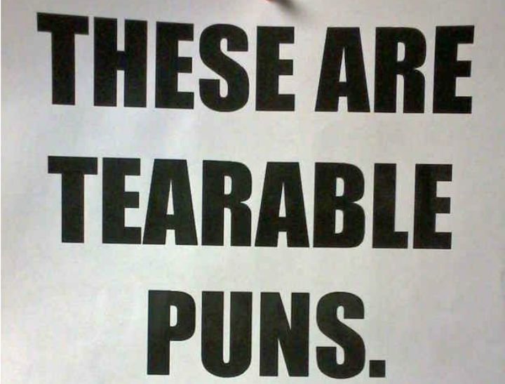 29 of the most giggle-worthy puns on the internet.