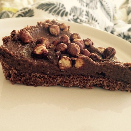 Raw Nutella Pie - gluten, dairy, sugar and egg free