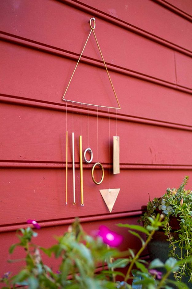 DIY Wind Chimes - DIY Modern Wind Chime  - Easy, Creative and Cool Windchimes Made from Wooden Beads, Pipes, Rustic Boho and Repurposed Items, Silverware, Seashells and More. Step by Step Tutorials and Instructions http://diyjoy.com/diy-wind-chimes
