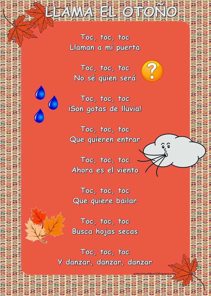 Aula virtual de audición y lenguaje: Poemas de otoño