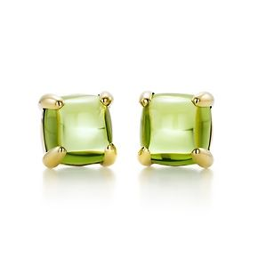 Paloma's Sugar Stacks earrings with peridots in 18k gold.