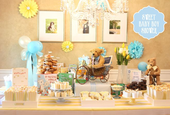 Children's Book Themed Baby Boy Shower! on http://pizzazzerie.com