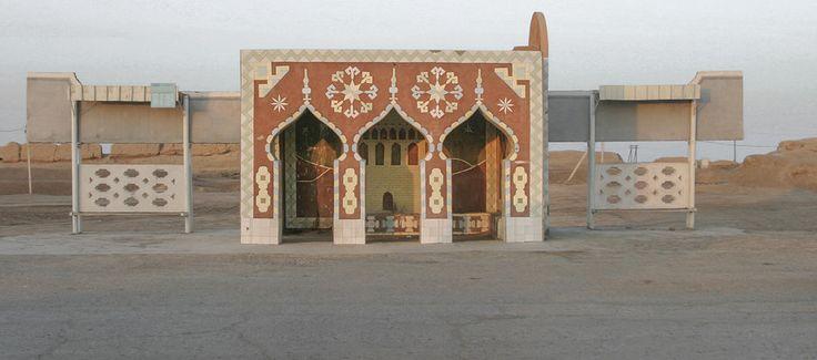 Кристофер Хервиг (Christopher Herwig): Советская автобусная остановка - Туркменистан, г. Мары