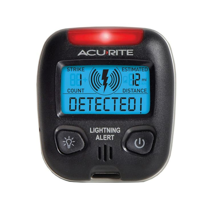 AcuRite Digital Portable Lightning Detector, Multicolor