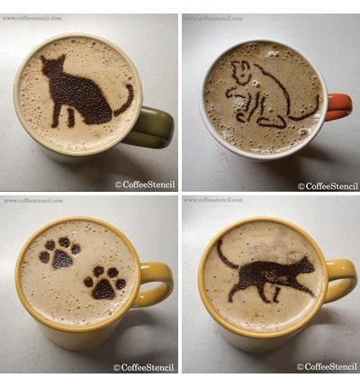 coffee art: cats... very cool!