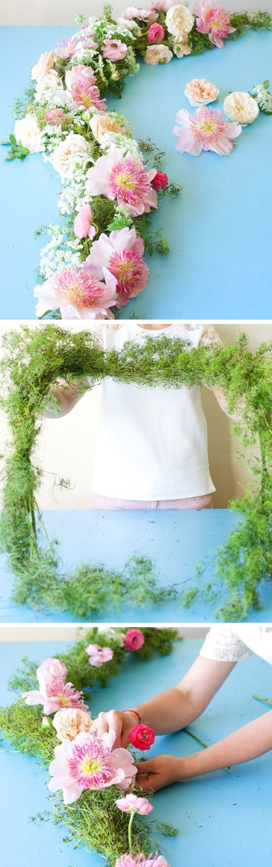 DIY Flower Crown and Garland Tutorial   Click Pic for 24 DIY Spring Wedding Ideas on a Budget   DIY Spring Wedding Flowers Ideas