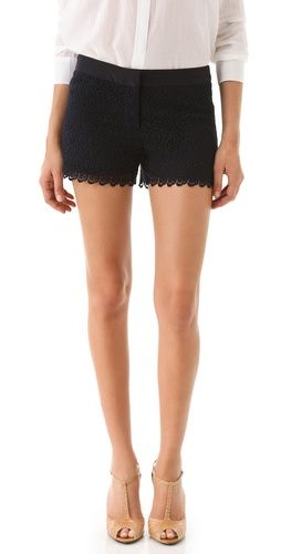 lace shorts: Black Shorts, Nude Shoes, Lace Shorts 3, Fashion Shoes, Black Lace Shorts, Club Monaco, Summer Outfits, Nude Heels, Diaz Lace