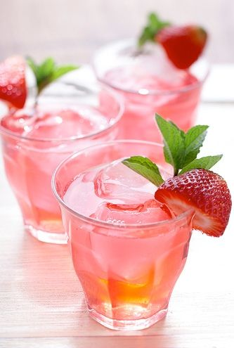 This strawberry tea cocktail is too darn pretty to resist. Get the recipe from Drop Dead Gorgeous Daily.   - Delish.com
